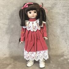 "Brinn Porcelain Doll, 13.5"" Wanda, 1989, Box and Coa"