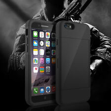 For Man&Husband Case iPhone 6+Plus Armor Wallet Stand Cover w/2 Card Slot Holder