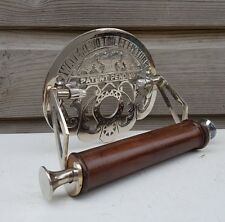Traditional Waterloo Victorian Toilet Roll Holder Solid Brass Nickel Finish
