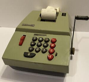 Vintage Hermes Precisa Model 109-7 Adding Machine Switzerland Paper