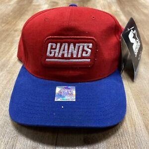 NEW YORK GIANTS NFL FOOTBALL VINTAGE 90s STARTER PATCH LOGO STRAPBACK HAT BNWT
