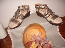 "Women's sandals ""Colorado"" ""Paula"" all leather size 7.5 tri colour, BRAND NEW."