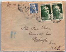 GP GOLDPATH: FRANCE COVER 1946 AIR MAIL _CV691_P08