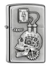 ZIPPO Feuerzeug POWER ENGINE HEAD m. Emblem Totenkopf Zahnräder Zippo Logo NEU!!
