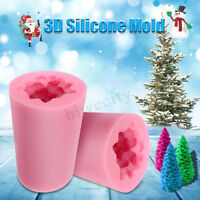 3D Christmas Tree Handmade Candle Soap Mold Mould Silicone Craft DIY 85mmx6.2mm