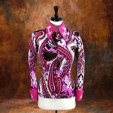 LARGE  Showmanship Pleasure Horsemanship Show Jacket Shirt Rodeo Queen Rail