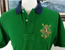 POLO RALPH LAUREN RUGBY SHIRT MENS SZ LARGE PONY GREEN SHORT SLEEVE LARGE