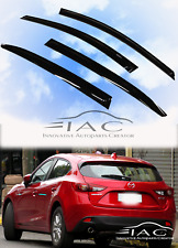 For Mazda 3 Hatchback 2014- Window Visor Vent Sun Shade Rain Guard Door Visor