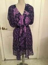 3.1 PHILLIP LIM RUNWAY FULL FLARE SILK DRESS PURPLE COLOR Size 0