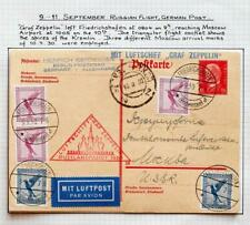 GERMANY to RUSSIA 1930 ZEPPELIN, Airship Russlandfahrt/Flight Card !!, ex Nutley