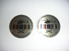 "New E/1-17th Cavalry Metal Disks Enduring Operation Iraqi Freedom II - 2"" Wide"