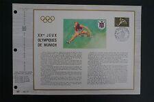 FRANCE CEF 1972 OLYMPIA MÜNCHEN OLYMPICS MUNICH ETB ERSTTAGSBLATT z1435