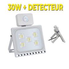 Projecteur Exterieur LED 30W blanc froid  AVEC Detecteur Extra plat 220V IP67