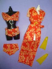 Vtg Barbie BEST BUY 70s Doll Clothes Lot GUAG GET UP N GO Beach Set 1974 7788