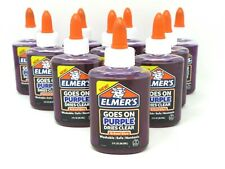 Elmers Glue Washable Goes On Purple Dries Clear School Glue 3 oz Each 10 Count