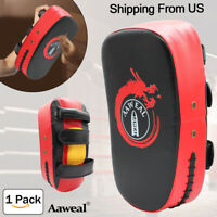 Kick Shield Pad Arm Thai Punching Focus Karate MMA Boxing Curved Training