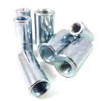 PACK OF 5, M12 TO M10 THREADED ROD / STUD /BAR CONNECTORS / REDUCERS ZINC BZP *