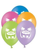 """Happy Retirement - Exotic Palms - 12"""" Printed Latex Balloons Assorted 5 ct"""