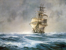 """John Stobart Print - The """"St. Mary"""" Approaching Cape Horn"""