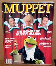 Muppet Magazine Spring 1986 Honorary Muppet Awards Robin Williams Pee Wee Herman