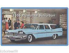 1959 Plymouth Suburban Wagon Blue  Auto Car  Refrigerator / Tool Box  Magnet