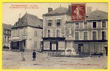 cpa 45 CHÂTEAU-RENARD Place du MARCHÉ HÔTEL du SAUVAGE banque Tailleur de Pierre