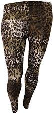 PLUS SIZE FULL LEOPARD PRINT LEGGINGS WOMENS ANIMAL PRINT STRETCH LEGGINGS 16-26