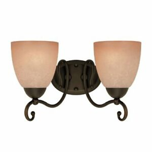 Westinghouse 6933600 Two Light Interior Wall Fixture Oil Rubbed Bronze Finish