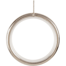 4x 55mm Metal Curtain Rail Rod Pole Rings With Eyelet, Satin Steel