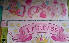 Girls theme Princess crown slippers pink Wall Sticker Walll decorWALL WORD