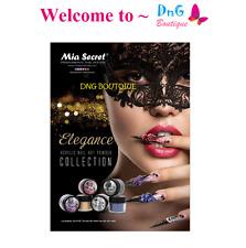 6 pcs Mia Secret Professional Nail ELEGANCE Collection Silver Gold ART POWDER