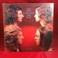 Slade Viejo Nuevo Prestado y Azul 1974 Lp Vinilo grabación Polydor Excelente Estado