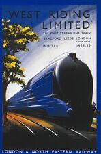 West Riding Treno A Vapore,Art Deco Retrò Vintage Gresley,Minuteria Metallica/