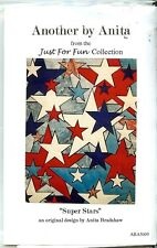 """""""Super Stars"""" Another by Anita Quilt Patterns Red White Blue 27x35  NIP"""