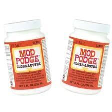 2 x 236ml Mod Podge Gloss Waterbased Glue -  Sealer Finish Modge Non-Toxic Craft