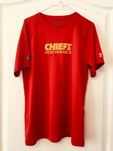 12 14-16 Youth Large Under Armour Kansas City Chiefs Dry Fit Shirt combine