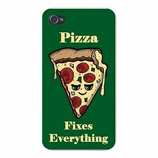 Pizza Fixes Everything Food Humor FITS iPhone 5 5s Plastic Snap On Case Cover