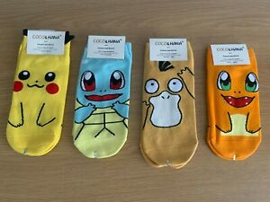 Full Set New Women / Ladies Pokemon Style Socks  *UK STOCK*
