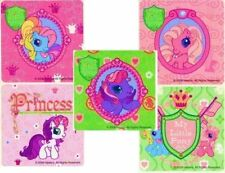 5 x Square Stickers ~ My Little Pony Princess Horse Girl Friend Party Favours ~