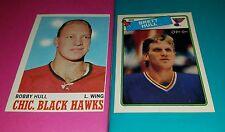70-71 Topps #15 BOBBY HULL Blackhawks 87-88 Opchee BRETT HULL Blues Rookie Card