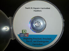 Preschool Learn the Numbers in PDF files.  Preschool curriculum worksheets.