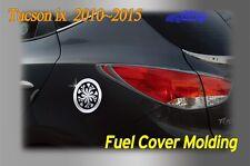 Fuel Gas Tank Door Cap Cover Chrome Molding B314 for Hyundai 2010~2015 Tucson ix