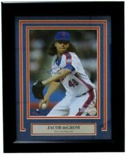 Jacob DeGrom Signed NY Mets 14x17 Custom Framed Photo Display Beckett Witnessed