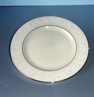 """Lenox Linen Rose Salad Dessert Plate 8"""" New"""
