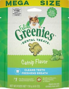 Feline Greenies Dental Treat Catnip 4.6oz    Free Shipping