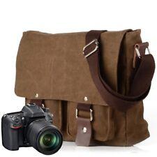 Waterproof Canvas DSLR Camera Bag Travel Shoulder Messenger Bag for Canon Nikon
