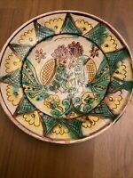 """Redware Pottery Bowl With Birds Measures 7 1/2"""" Across"""
