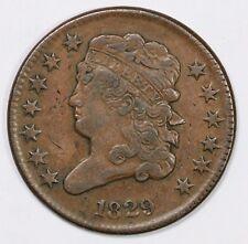 1829 Flip Over Double Struck Classic Head Half Cent Coin 1/2c