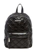 Steve Madden Nyla Triple Stitch Sateen Black Backpack