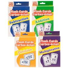 Set Of 4 Packs Of Flash Cards Add, Multiply,Division,Subtrac tion (English)